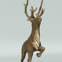 statuette of a deer