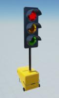3d model road works traffic lights