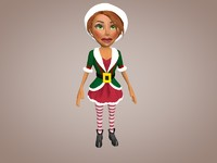 christmas elf woman c4d