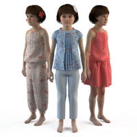 3d model fashion clothing baby