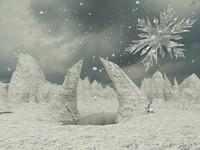 3d model snowflake skull snow