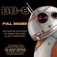 3d bb-8 star wars droid