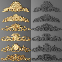 3d model cartouches set