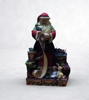 santa claus statue 3d max