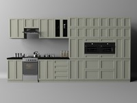 kitchen cabinets microwave oven 3d model