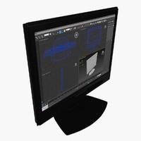 3d lcd monitor model