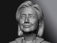 3d sculpt hillary clinton model