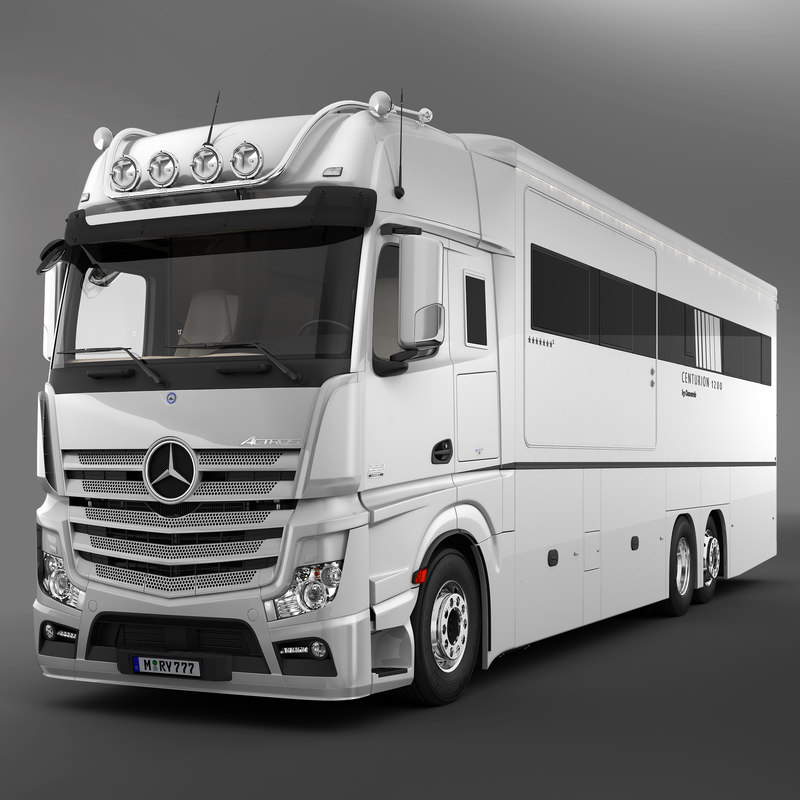 3d actros motorhome model for Mercedes benz luxury rv