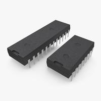 computer chips 3d model