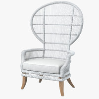 goods aurora outdoor wingback 3d max