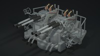 3d model 40mm machine gun bofors