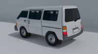 minivan van 3d model
