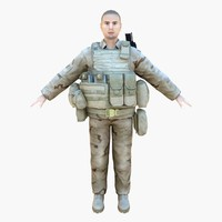 3d model navy seal desert