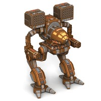 3d model mech warrior