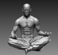 zbrush male character 3d model
