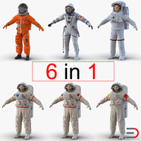 astronauts 2 3d model