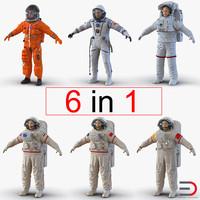 astronauts 2 3d model