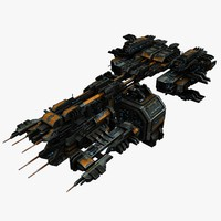 3ds space spaceship transporter