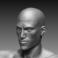 3d realistic zbrush male character
