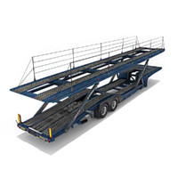 car transporter trucks 3d max