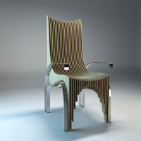 3d chair designed plywood model