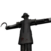 3d scarecrow scare crow model