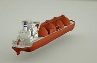 lng ship 3d model