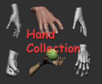 3d hand ztl male model