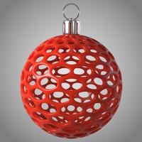 3d model modern christmas ball