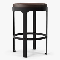 holly hunt marteau counterstool 3d model