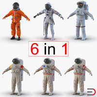3d model space suits 2