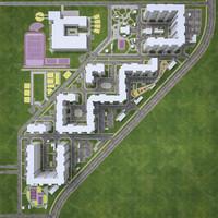 3d model urban area