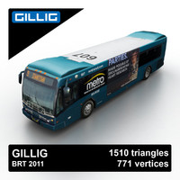 gillig brt 2011 bus 3d 3ds