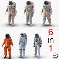 3d max space suits rigged 2
