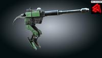 gun robot 3d obj
