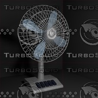 3d model table fan