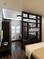 interior boy bedroom 3d model