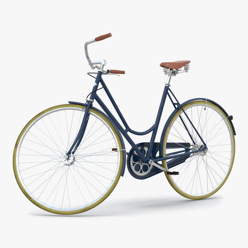 3d model of City Bike Blue Rigged 00.jpg