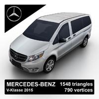 2015 mercedes-benz v-klasse van 3d max