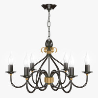 windermere 6lt chandelier 3d model