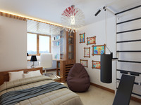 3d interior boy bedroom model
