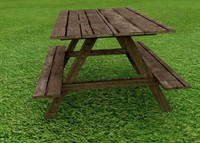 3d model of picnic table