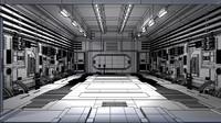hanger spaceships 3d obj