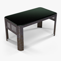 table industriart greyglass art obj