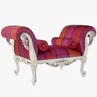 3d bench armrests model