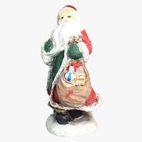 santa statue 3d c4d