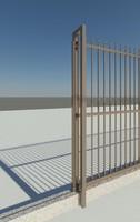 Galvinised steel gate