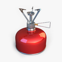 3d model of gas burner