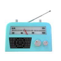 cute cartoon radio 3d model