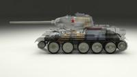 3d soviet t-34 85 tank